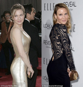 Renee Zellweger - then and now