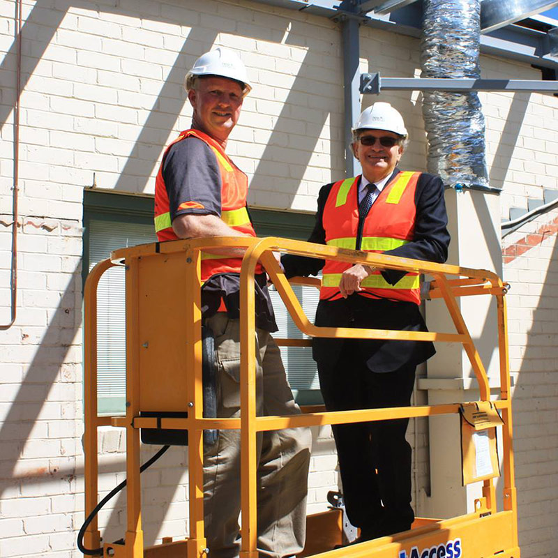 Dr Allan Kalus overseeing the improvements on Windsor Private Hospital