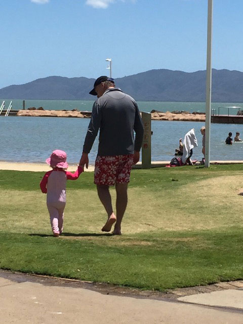 Mark and Scarlett at the beach