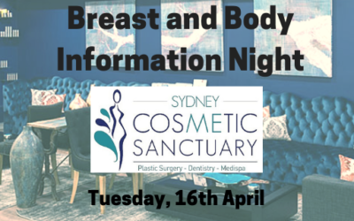 SCS Breast and Body Information Night, Tuesday, 16 April – Save the Date!!