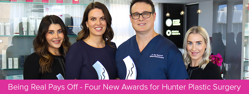 Being Real Pays Off – Four New Awards for Hunter Plastic Surgery